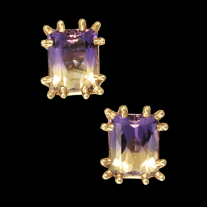 Ametrine spike earrings
